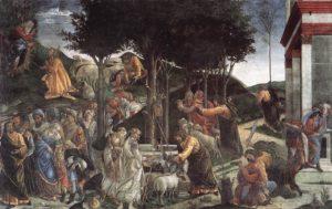 Technika: freskóÉv: 1481–82Hely: Sixtus-kápolna, VatikánJelenet: 2Móz 2, 11–15 (és egyebek)