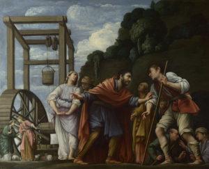 Technika: olajfestmény réztáblán<br /> Év: 1609–10Hely: National Gallery, London<br /> Jelenet: 2Móz 2, 16–18