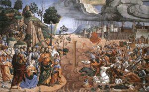 Technika: freskóÉv: 1481–82Hely: Sixtus-kápolna, VatikánJelenet: 2Móz 14, 16–28